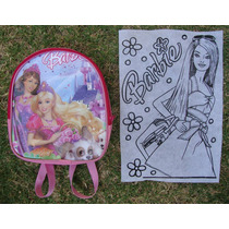 Mochila, Dulcero, Recuerdo Para Fiestas. Barbie.