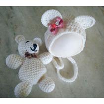 Newborn Touca E Ursinho