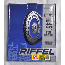 Kit Relação Riffel Aço 1045 Titan 125 Fan 2009 A 2014
