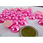 100 Medias Perlas Rosas Y O Celestes Para Pegar 14mm