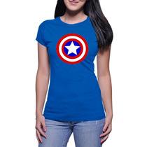 Camisas Franelas Capitán América Para Damas