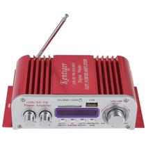Mini Amplificador 12v Display Digital Mp3/usb/dvd/sd/fm