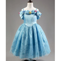Vestido Fantasia Cinderela Luxo - Pronta Entrega