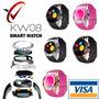 Smart Watch Kw08 Chip /sd /camara /ritmo Cardiaco / Estuche