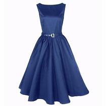 Vestido Vintage Rockabilly Pin Up, Azul