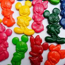 Crayones - Souvenirs - Mickey - Minnie - Cumpleaños -packx48