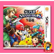 Super Smash Bros Nintendo 3ds Mídia Física - Pronta Entrega!