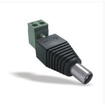Conector Mini Plug Hembra 2.1 Mm. Con Tornillos Cctv Hm4