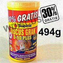 Ração Tropical Discus Gran D-50 Plus 494g - Bonus 30% Grátis