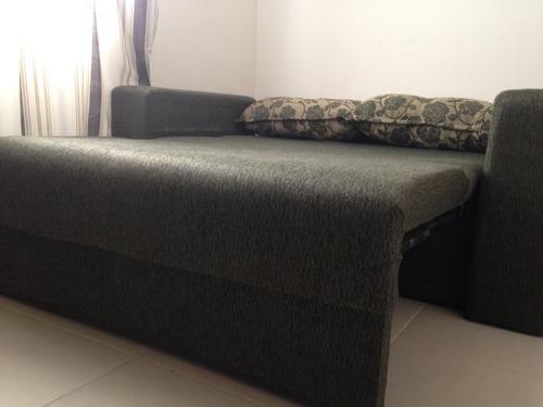 Sof cama verde musgo casal r 500 00 em mercado livre - Sofa cama verde ...