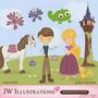 Kit Imprimible Enredados Rapunzel Imagenes Clipart Cod 4