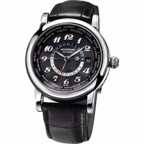 Montblanc Star World Time Gmt Automatic Acero Piel Diego Vez