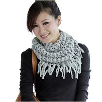Nueva Bufanda Redonda Moda Japonesa Ropa Coreana Gris