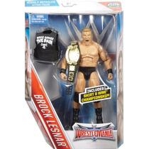 Wwe Figura De Brock Lesnar Elite Serie Wrestlemania Mattel