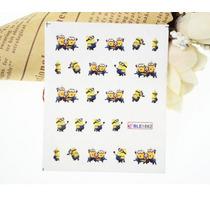 Calcamonias Stickers Uña Facil Aplicacion Minions Niñas Gel