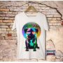 Camiseta Masculina Estampa Pug Dj Cachorro Vinil
