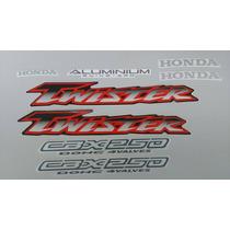 Kit Adesivos Honda Cbx 250 Twister 2001 2002 Preta