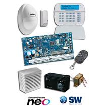 Kit Alarma Dsc Power Series Neo Inalambrico Teclado Full
