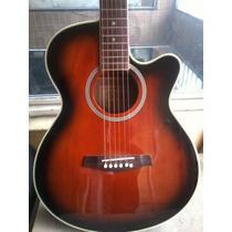 Guitarra Electroacustica Texas C Microfono Envio Canj Tarj!