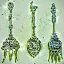 Lote - 6 Antiguos Cubiertos Decorativos - De Bronce
