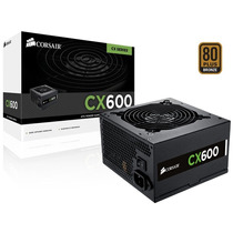 Fonte Cx600 Corsair 600w Real Gamer Pfc Ativo 80plus Bronze