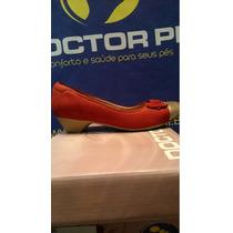 Sapato Feminino Nobuc Vermelho / Ouro 34506 Doctorpé