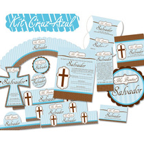 Kit Imprimible De Bautizo Incluye Invitacion Etiquetas Y Mas