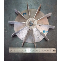 Abanico De Aluminio Para Motor Eléctrico 17 Cm