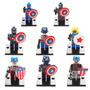 Set De 8 Figuras Del Capitan America Compatible Con Lego