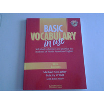 Libro Basic Vocabulary Con Respuestas Y Audio Cd