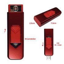 Encendedor Electrico Cigarros Resistencia Recargable Usb Roj