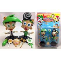Bonecos Padrinhos Mágicos Fadas Cosmo E Wanda + Acessórios