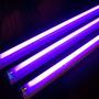 Tubo De Luz Negra Ultravioleta 1.2m Resalta Fluor Ya Armado