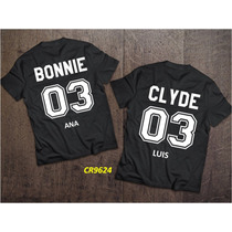 Playeras Amor Pareja Bonnie And Clyde (personalizada) Cr9624