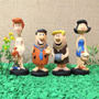 Kit 6 Bonecos Os Flintstones Fred, Barney, Wilma, Betth 15cm
