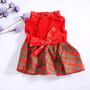 Vestido Rojo Perrita Toy Pequena Cachorrita Mini Xs Stock