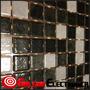 Mosaico Malla Decorativa Vidrio Negro Gris Claro Y Oscuro