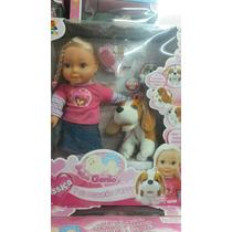 Muñeca Jessica Interactiva Sonido Su Perrito Cicciobello