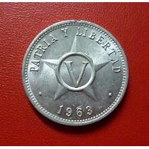 Cuba Moneda 5 Centavos Au 1963 (p&l)