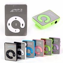 Mp3 Player Mini Leitor Sd S/ Cartão Memoria Fone Usb Mp4 Mp5