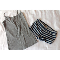 Hollister Forever 21 Set Pijama Short Y Cami Talla Xs