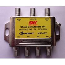 Chave Comutadora 3x4 Amplificada (substitui O Lnb Triax Sdu)