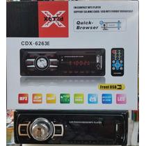 Reproductor De Carro Mp3 Usb Sd, Aux + Control Remoto