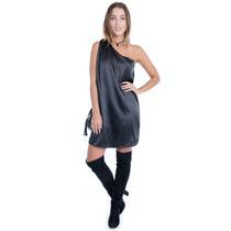 Vestido De Cetim - Kam Bess - Ve0364