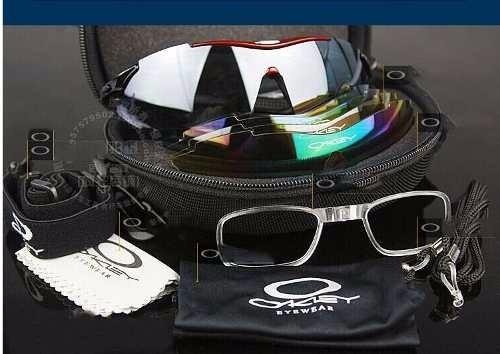 Chegou Os Óculos Ciclista Oakley 5 Lentes Kit Esportivo ! - R  179 ... 65edb93894