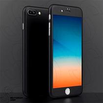 Funda Iphone 7 Plus 360 Rígida Cristal Templado + Acrílico