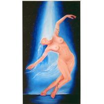 Arte Figurativo Pintura Oleo Sobre Lienzo Rapsodia En Azul