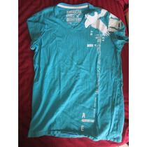 Camiseta American Eagle Verde Talla Chica