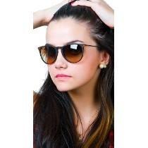 Óculos De Sol Ray Ban Rb4171 Erika Marrom Fosco Degrade