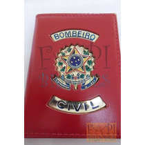 Porta Funcional Cartão Bombeiro Civil Brasão República P23v